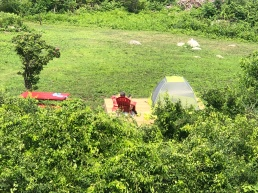 First Camper on Island